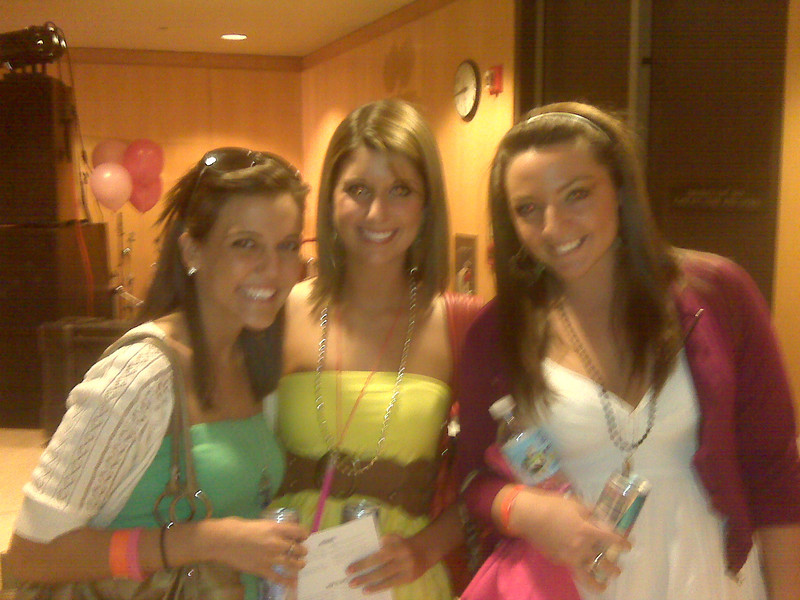 Casey's friends, Jackie Cahill (left) and Kaitlyn Carullo (right) with their buddy.
