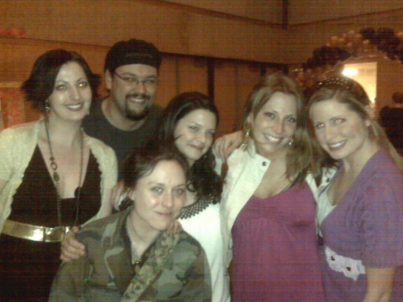 Casey's friend,Melissa Zirolli (2nd from right) with her buddies.