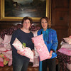 Rita Cancelliere, project coordinator at the firm, with Dianne Anderson (Casey's mom).
