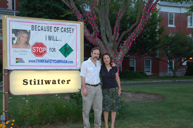 Casey's parents, Joel Feldman and Dianne Anderson