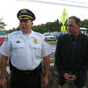 Northfield Mayor Vincent Mazzeo (right) and Northfield Police Chief Robert James