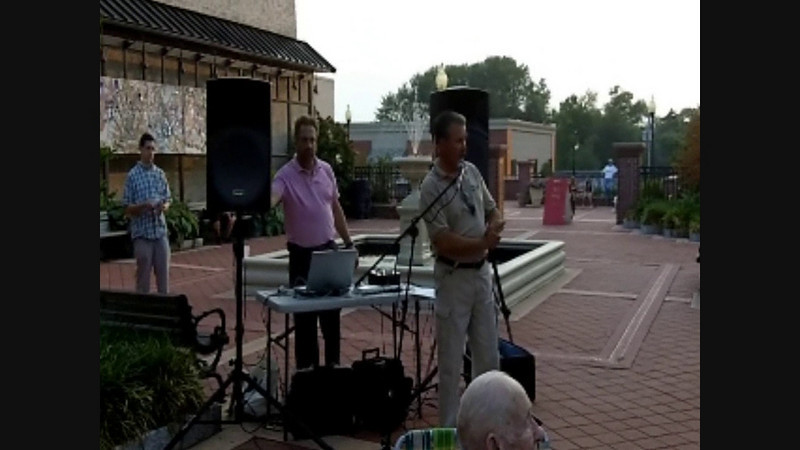 Mike Tuilio and officials addressing the crowd - video.