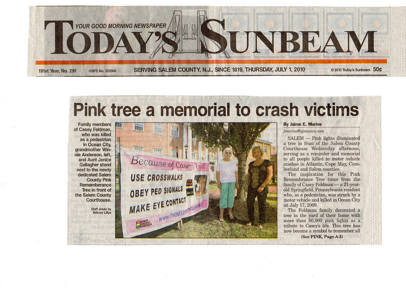 The article ran on the front page of the paper. Run your mouse over the photo to enlarge for reading.
