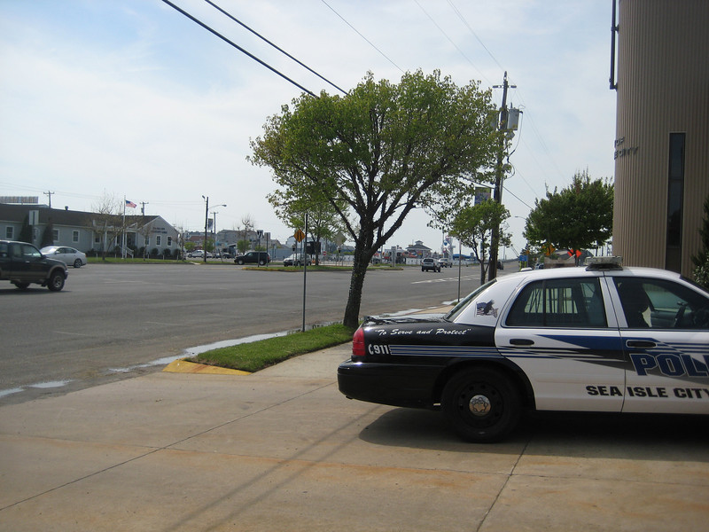 The police department and the tree out front are directly on your left as you come over the bridge into Sea Isle City.