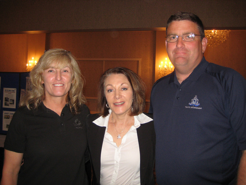 Officers Hall and Simonson, Ocean City Police Department with Dianne Anderson, Casey's mother (center)<br /> <br /> Both officers investigated Casey's accident.