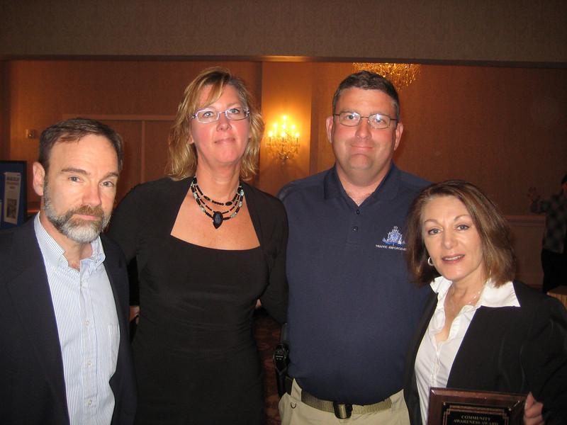 L to R: Joel Feldman, Teresa Thomas (SJTSA), Charles Simonson (Ocean City, N.J. Police Dept) and Dianne Anderson (Feldman) at the luncheon