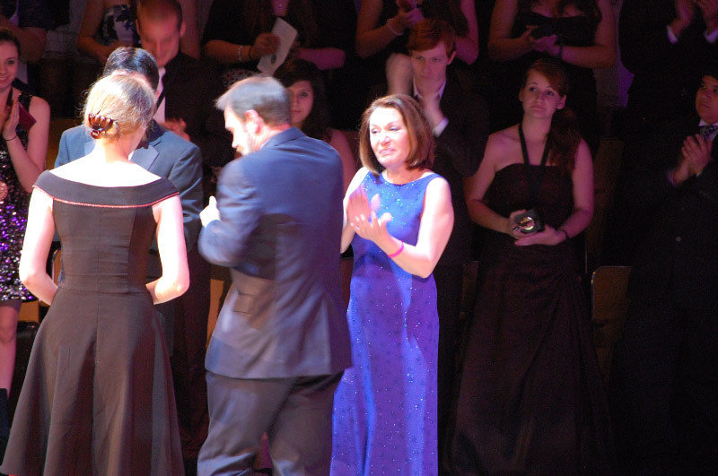 Meg Boeni accepting the award