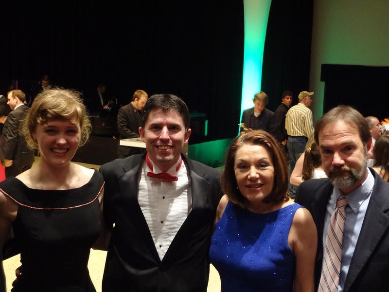 R to L:  Casey's parents, Joel Feldman and Dianne Anderson, SHS Teacher & Theater Director, John Gildea and  2012 Cappies scholarship recipient Meg Boeni