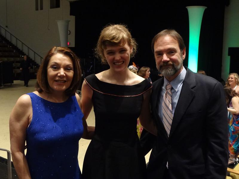 R to L: Dianne Anderson (Casey's mother), Meg Boeni and Joel Feldman (Casey's father)