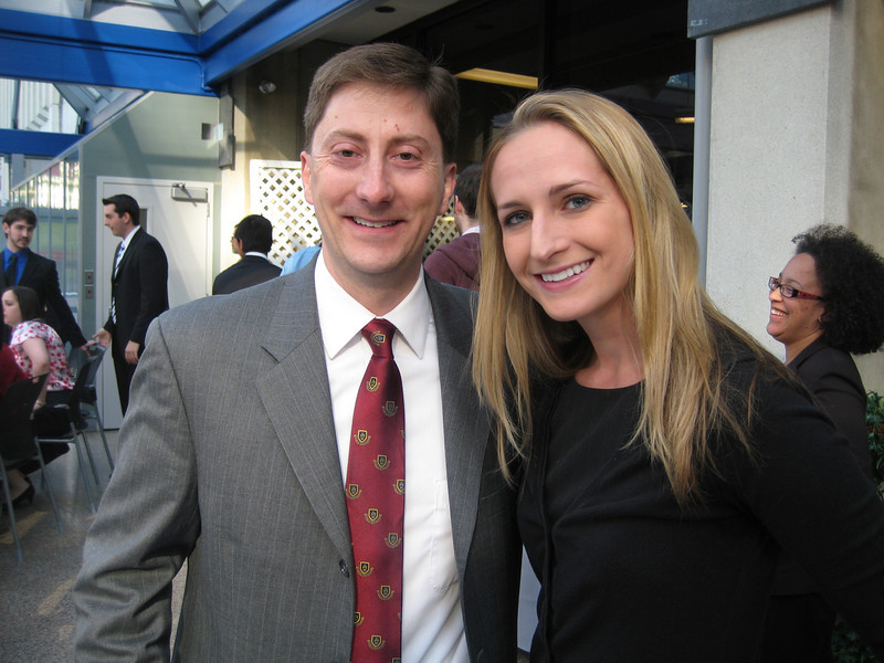 Keith Eldridge, Dean of Students with Brooke Burdge.