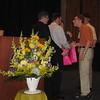 Hayden Dahmn accepting his scholarship award.