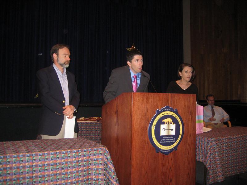 John Guildea announcing the award.