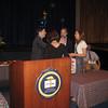 John Gildea giving Christy a heartfelt congratulations.