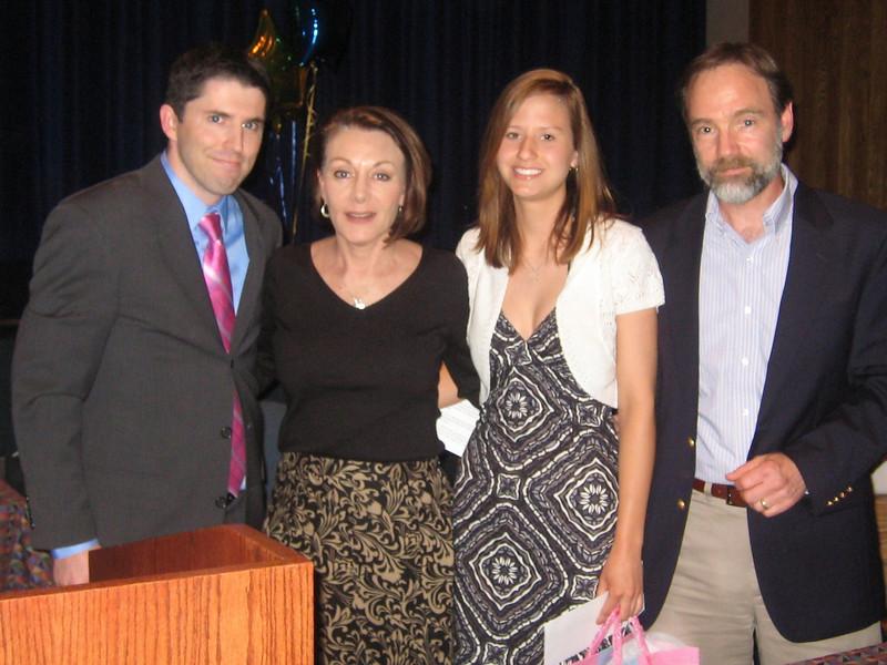 John Gildea (left), Dianne Anderson, Christy Kobasa and Joel Feldman at the SHS Honors Reception on June 2, 2010