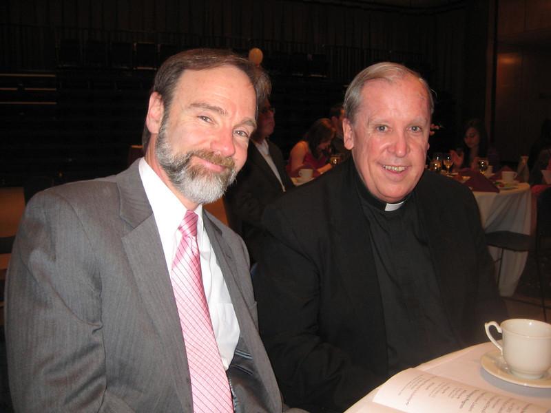 Joel Feldman and Rev. Michael Tueth, S.J.