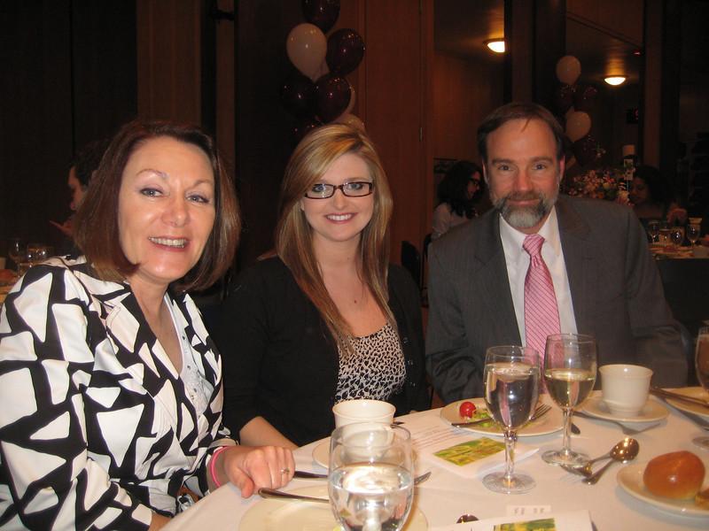 Stefanie Wheeler  with Casey's parents, Dianne Anderson and Joel Feldman