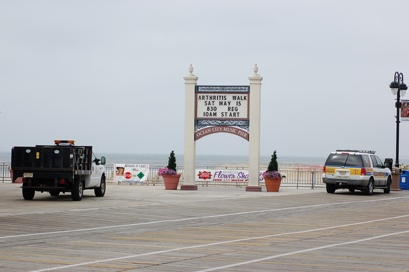 Outside the music Pier at 9th St. and the Boardwalk in Ocean City, NJ.