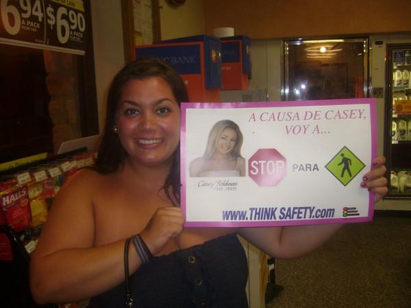 Mia DellaMonica -  Wawa Sea Isle City. Notice the poster in Spanish.