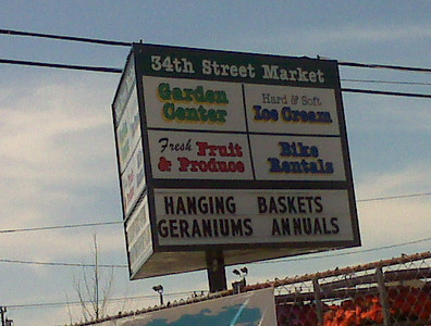34th St. market in Ocean City where a Casey banner is displayed.