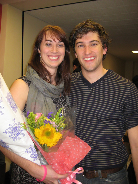 Christina and cast member, Jake Loewenthal.
