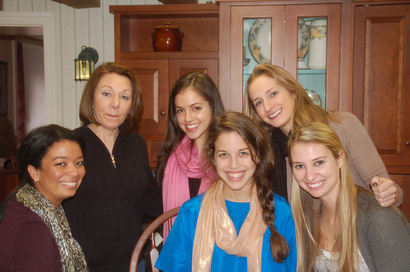 Dec. 29, 2010. Present for the Faces of Distracted Driving filming. Kelsey Butler (left). Dianne Anderson, Katie Feeney, Broke Burdge; Janine Repka (front) and Marie Larson