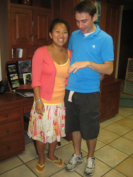 June 8, 2010. What's on my hand?<br /> <br />  Mia Davis and Nick Seminoff.