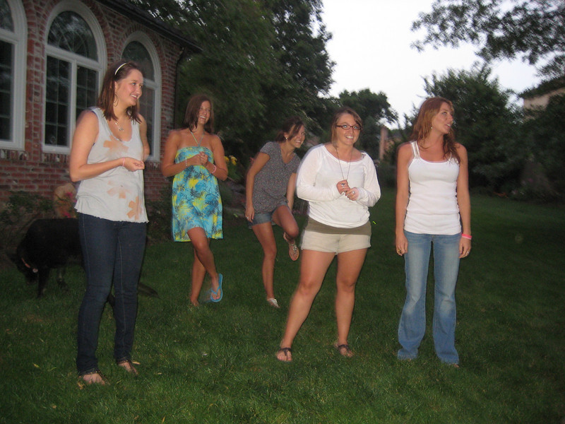 June 15, 2010. Watching the swingers. Should we go too?<br /> <br /> Jamie Gallagher (left) Rachel Kemmey, Jackie Cahill, Kaitlyn Carullo and Melissa Zirolli