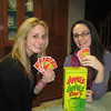 Early March visit from Brooke Burdge and Meaghan Dillon. Apples to Apples - yes, the kids' edition, before bed!