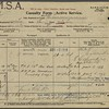Casualty form - active service World War One for Otto Feick who served in the Canadian Forestry Corps.  He enlisted 1918 May 1 and left Canada for England on June 3 of that year.