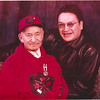 Abraham and Mike Metatawabin. Abraham in Canadian Rangers top with medal.