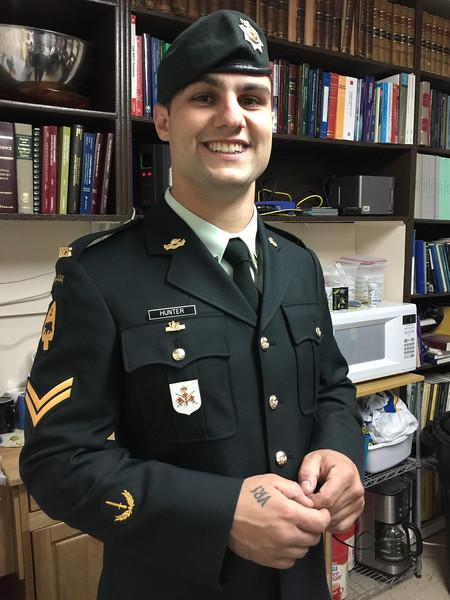 David Hunter in uniform.