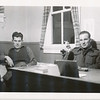 Lloyd Lantz (left) and another soldier at Camp Borden.
