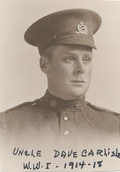 David Carlisle, WWI