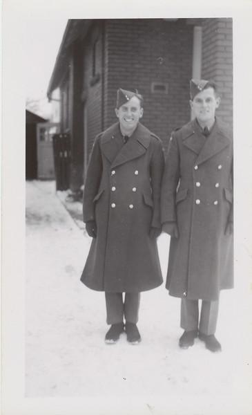 Howard and Lloyd Lantz in uniform