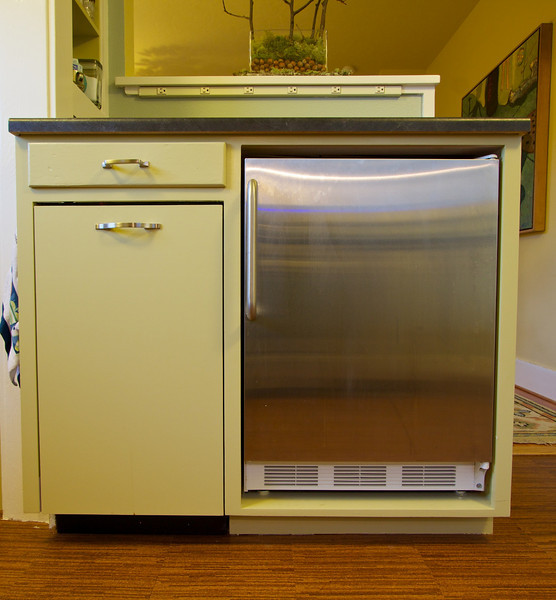 New freezer (right) and new Miele dishwasher (left).