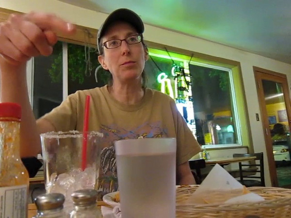 Video - This is a video of Ken making an attempt to look presentable for dinner up the street.