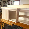 A quick peek to see how the cabinet will look with doors on...