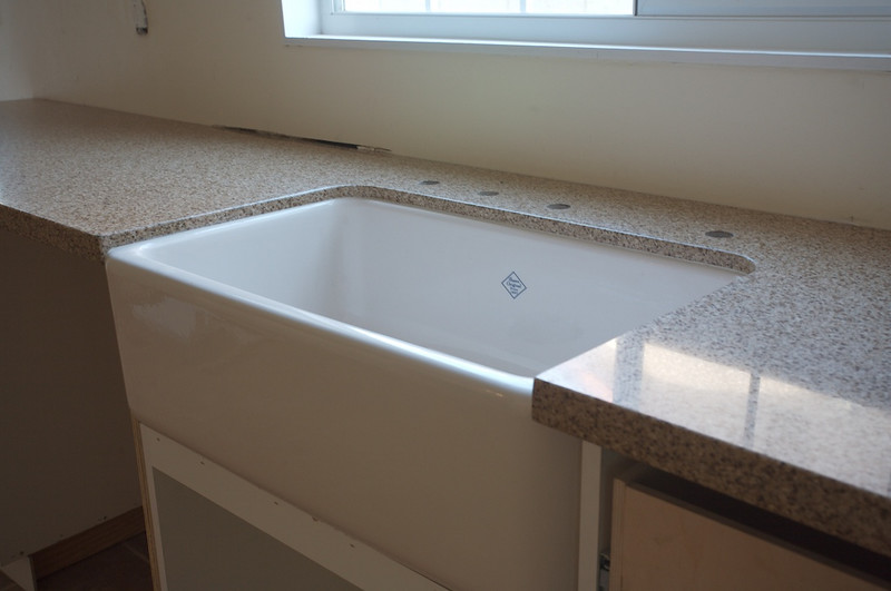Countertop and sink mounted.