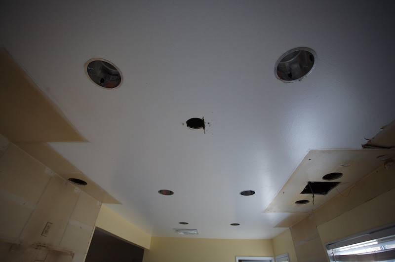 Rough electrical.<br /> They are adding the recessed lighting now.