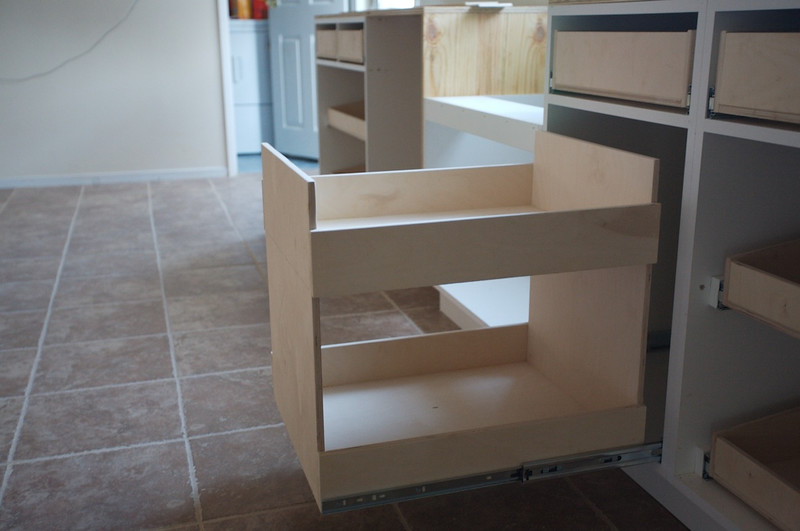 Cabinet boxes are in. They are not painted yet.<br /> Spice rack.