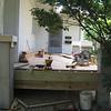 Side of porch toward kitchen door.