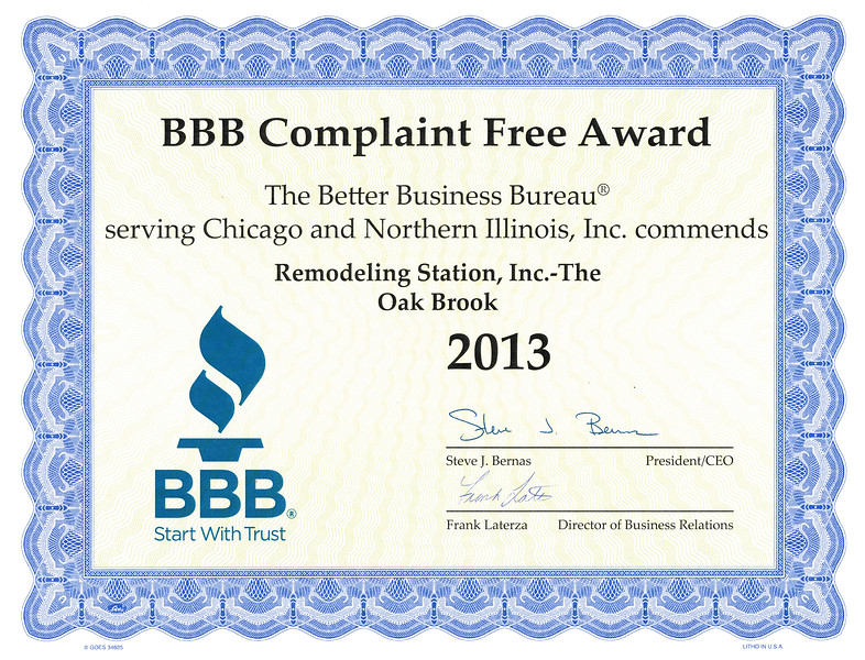 BBB Complaint Free 2013