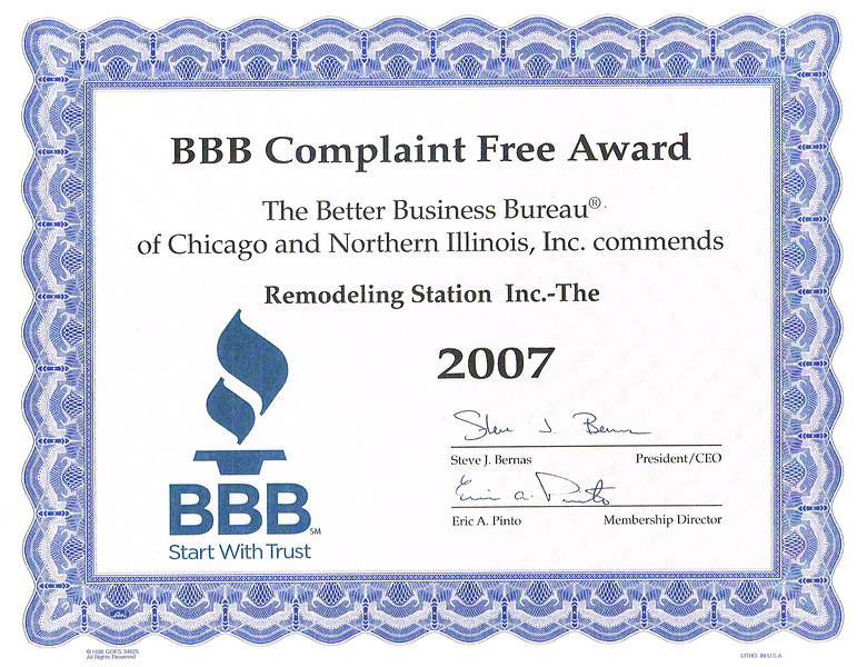 BBB Complaint Free 2007