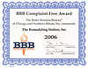 BBB Complaint Free 2006