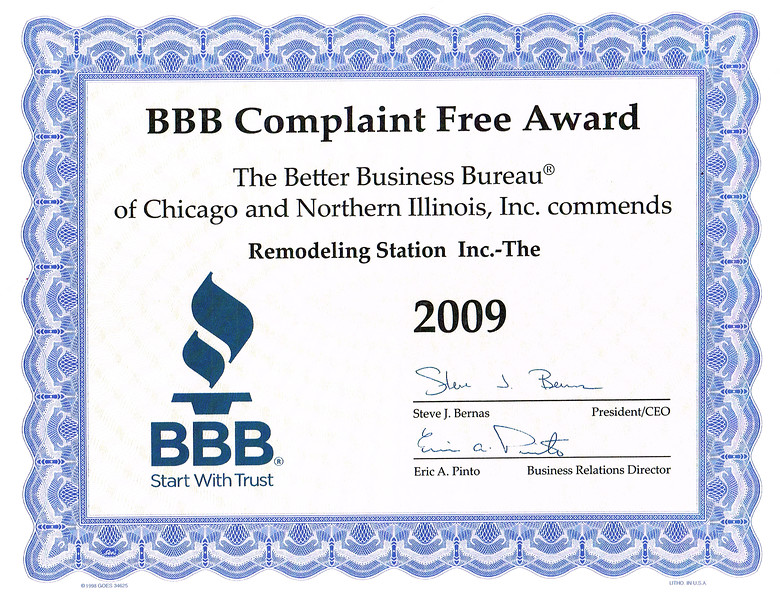 BBB Complaint Free 2009