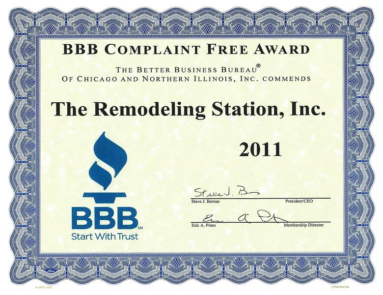 BBB Complaint Free 2011