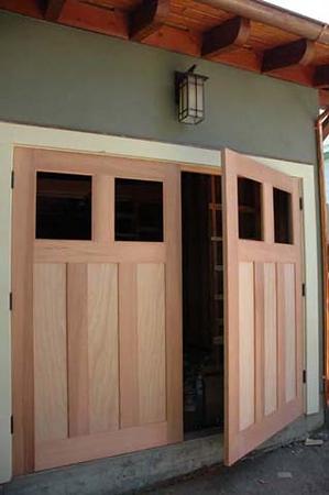 Russell residence: garage doors