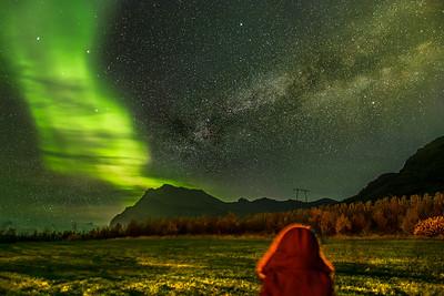 Watching the aurora