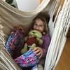Relaxing in a hammock with Mia in Edingen near Heidelberg