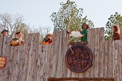 Robin Hood thwarting the Sheriff.